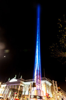 The Dublin Spire Largest Lightsaber in the world - Star Wars