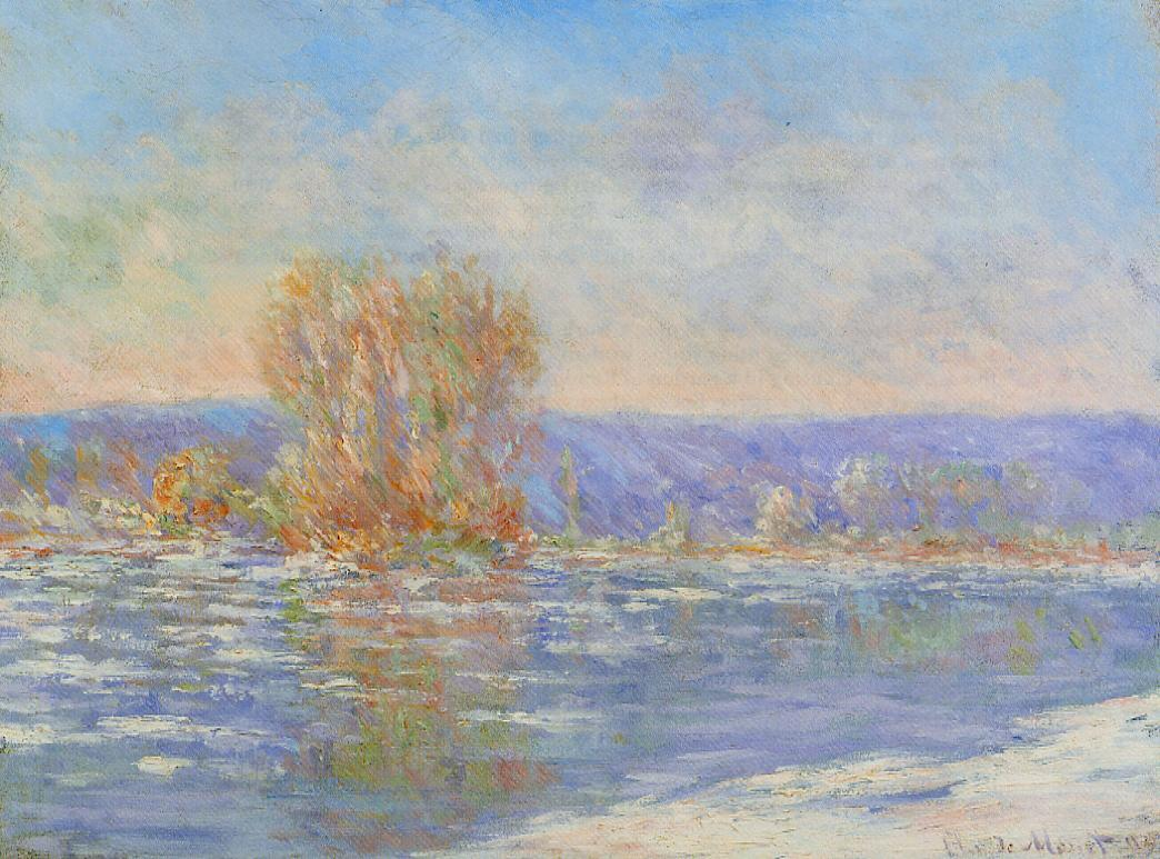 Floating Ice near Bennecourt by Claude Oscar Monet - 1893