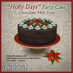 "@ Twisted Krissmuss ~ [CIRCA] - ""Holly Days"" - Party Cakestand - Choco Mint Frost"