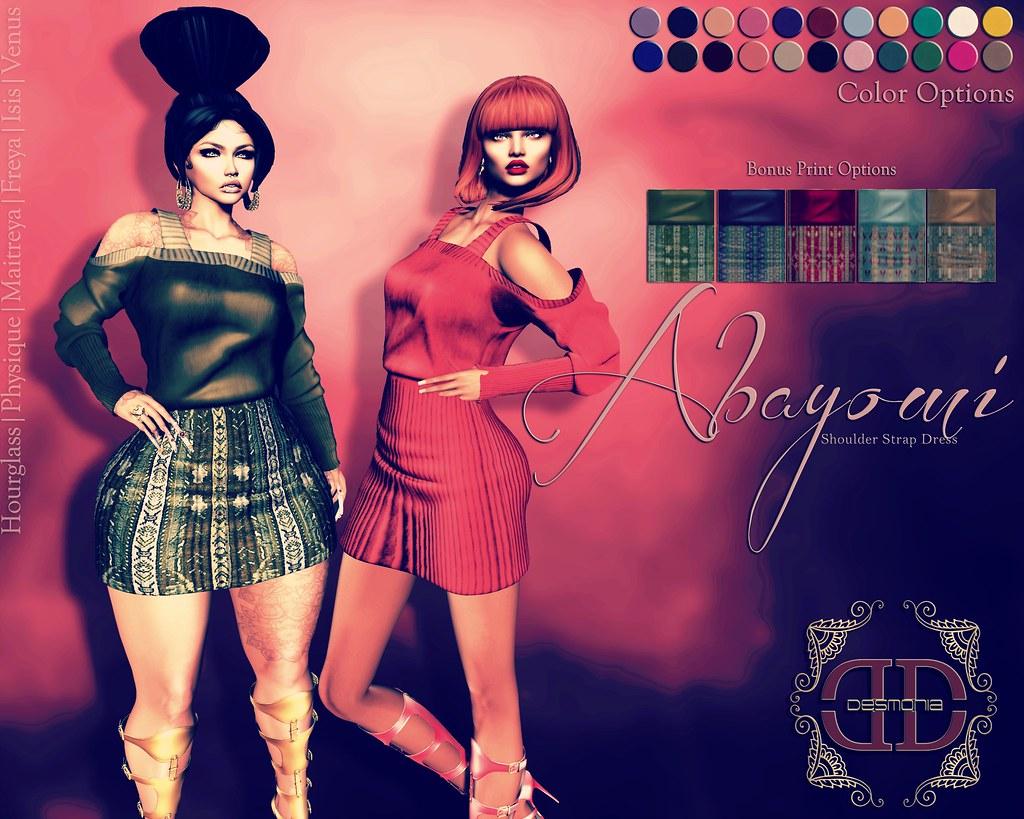 -Desmonia- Abayomi Shoulder Strap Dress Fatpack - SecondLifeHub.com