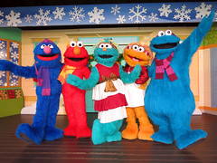 Grover, Elmo, Rosita, Zoe and Cookie Monster