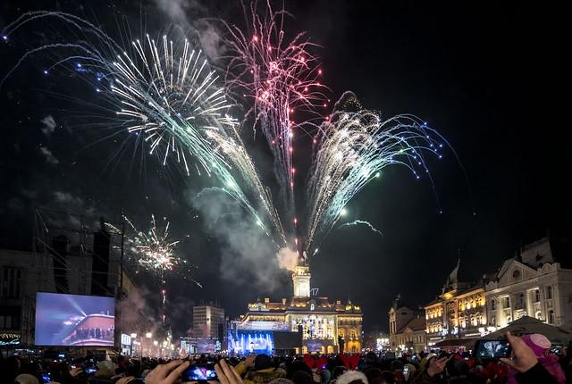 Novi Sad,Nova godina 2017 vatromet