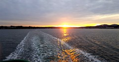 On the Bremerton to Seattle ferry at sunset