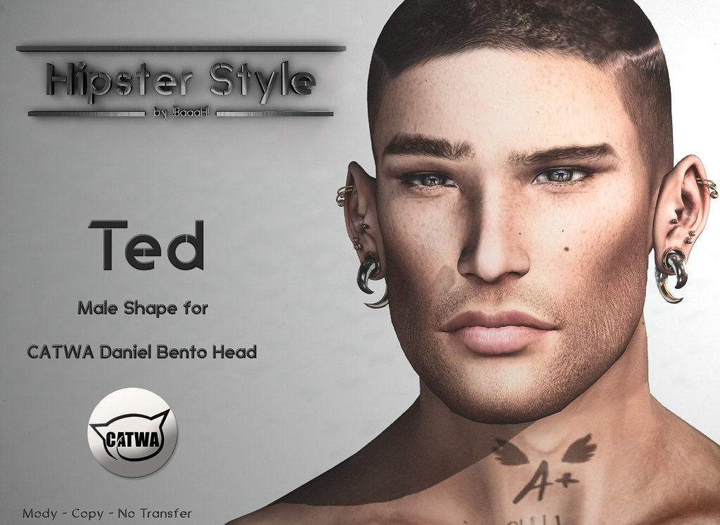 [Hipster Style] Ted Male Shape for CATWA Daniel Bento Head - SecondLifeHub.com