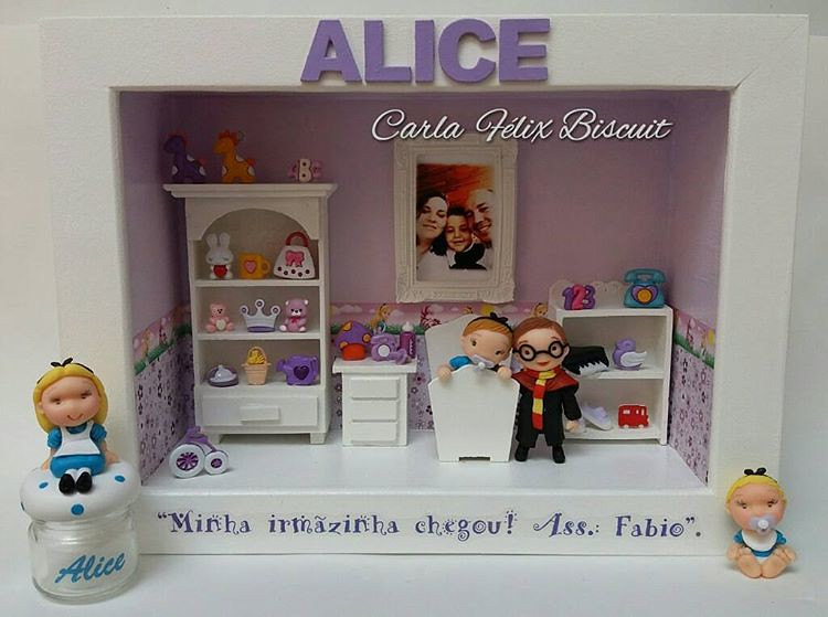 Quadro Maternidade Alice e Harry Potter #alicebiscuit #ali