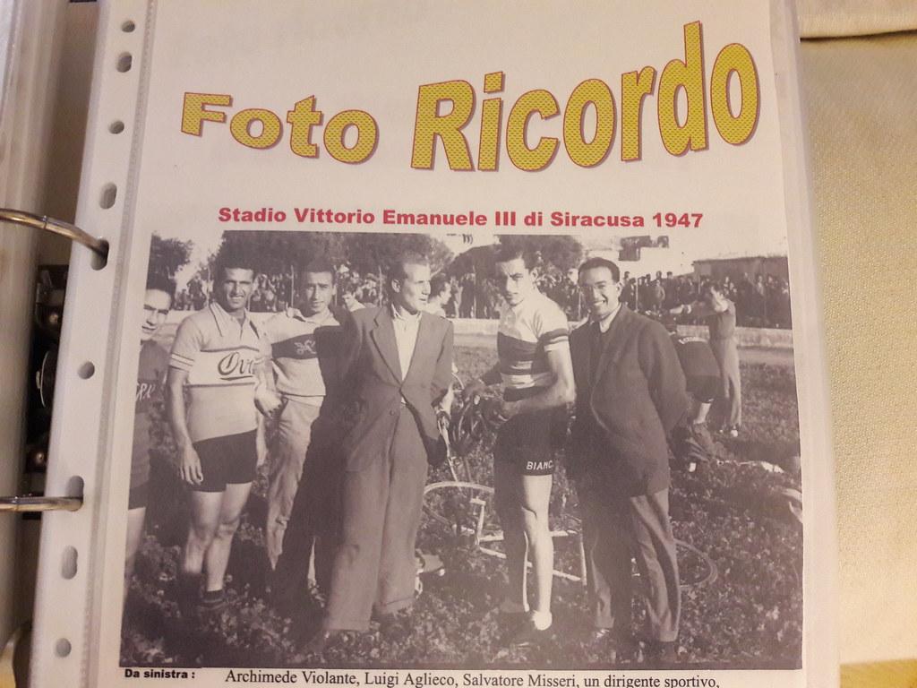 Stadio Vittorio Emanuele III 1947 - Aglieco con Fausto Coppi