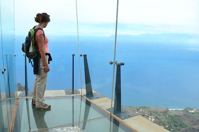 Cage, Glass viewing platform, Mirador de Abrante, Agulo, La Gomera