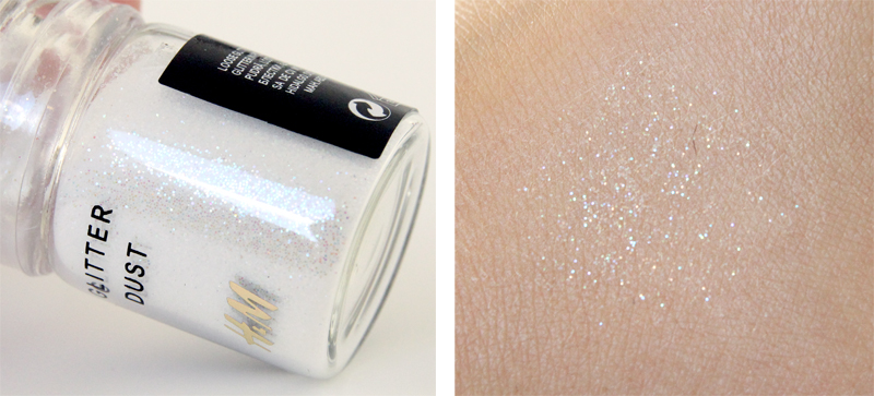 H&M break the ice glitter dust swatch