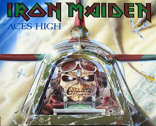 "IRON MAIDEN ACES HIGH UK 12"" Maxi"
