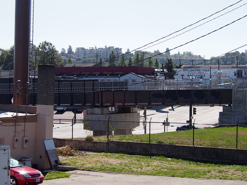 New Railroad Bridge: Built to carry Sounder over Pacific Avenue (old US 99).