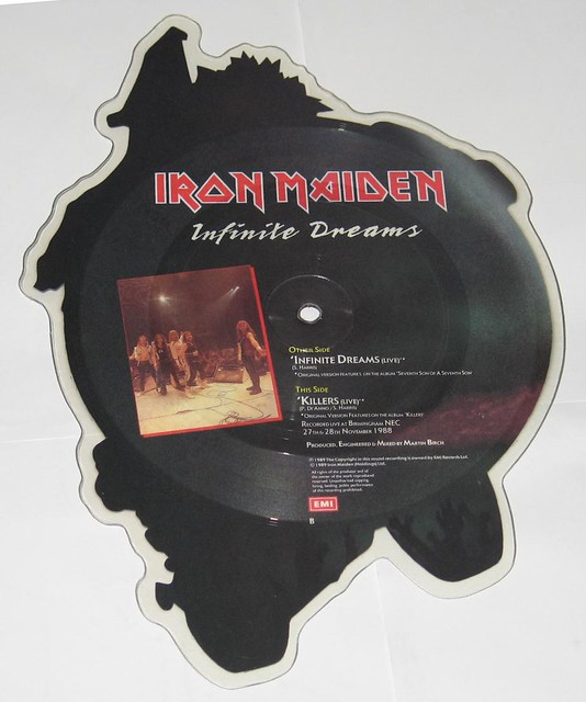 IRON MAIDEN Infinite Dreams Cut To Shape Shaped Picture Disc