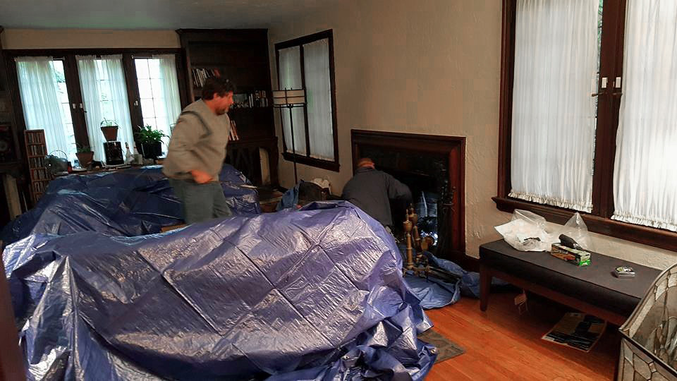 chimney cleaning - my house - 2015-10-03