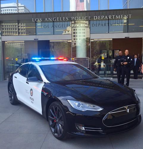 Tesla P85D Policia Los Ángeles