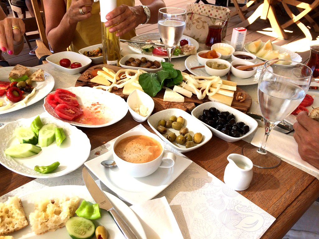 vast and expansive breakfast spread