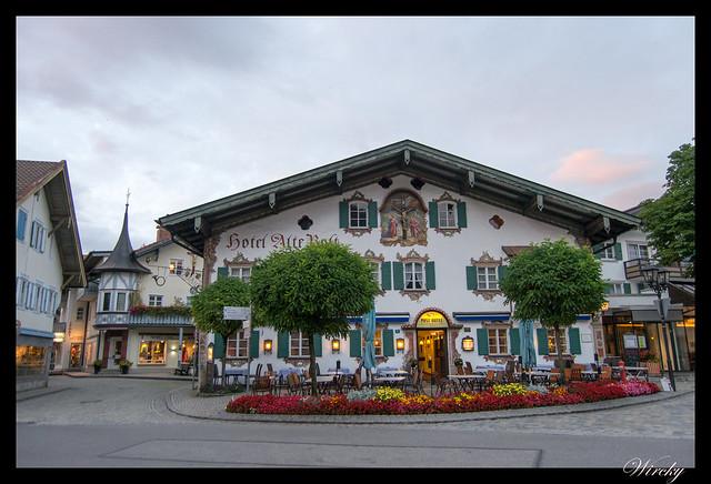 Excursiones de un día desde Munich - Fachadas con representación de la Pasión