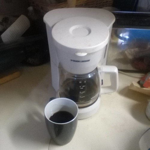 Coffeemaker with coffee #coffee #happycoffeeday #coffeemaker