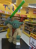 star wars lego brick yoda with lightsaber store display at toys r us chadstone victoria australia on 21 08 2015 a by tjparkside