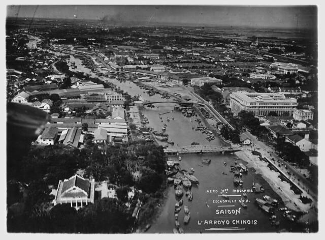 Không ảnh Đông Dương thập niên 1930 - Rạch Bến Nghé Saigon