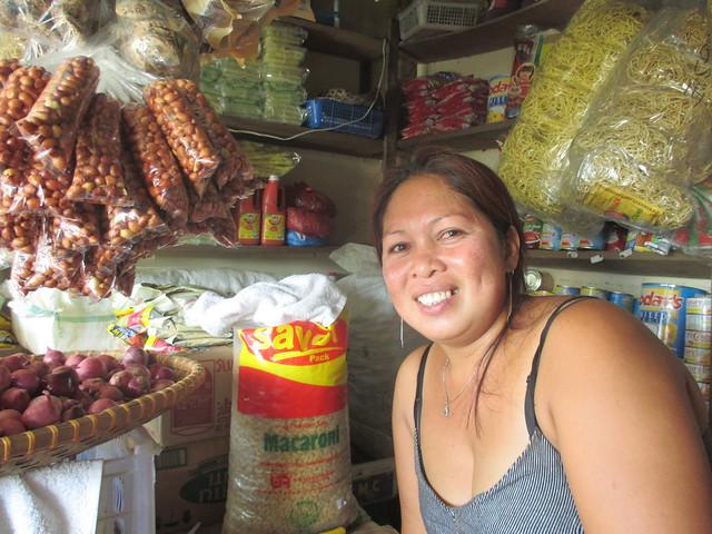 General MacArthur market vendor Rosita Abode