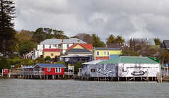 An urban waterfront. Rawene. NZ