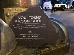 Moon rock 76055 found on street pole in Pioneer Court