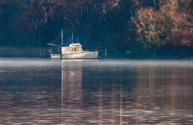 Lonely Boat on the Patuxent-1