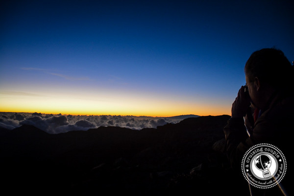 Watching the Sunrise on Mount Haleakala Maui Hawaii