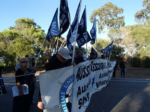 Protesters disrupted traffic in Pinjarra