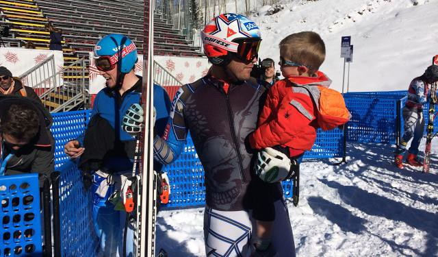 Bode Miller and son at Beaver Creek