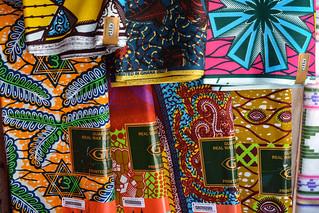 Wax block print fabric made in Ghana