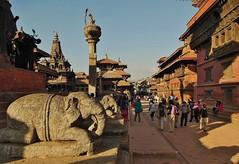 NEPAL,unterwegs  in der Königsstadt Patan, Lalitpur,  am Durbar Square, 15149