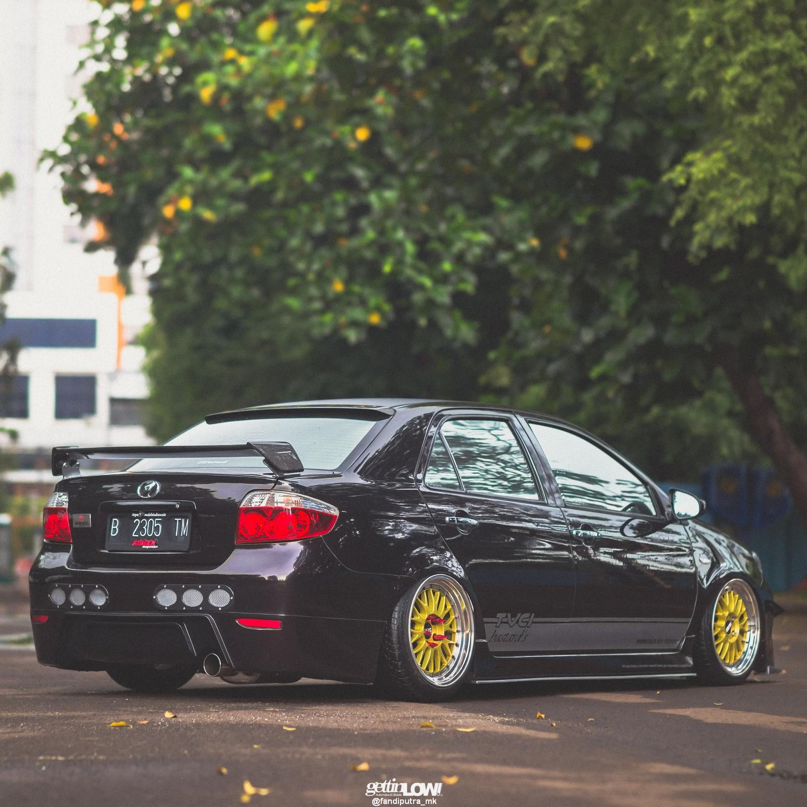 Bagged-Toyota-Vios-Black