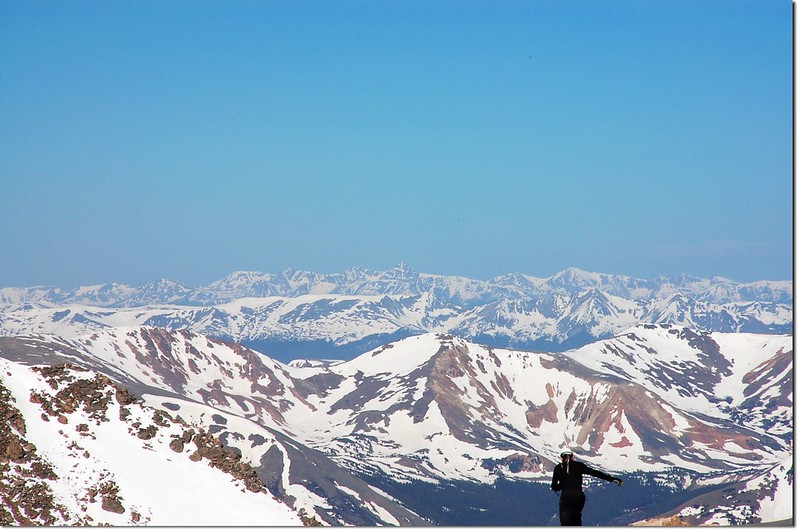 Mt. of the Holy Cross as viewed from Mount Evans