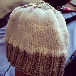 Child size #TopThis hat finished (except for adding the doggy topper)...but it doesn't look like a child's size hat to me. More like toddler? #handknit #knitstagram #instaknit #knittersofinstagram #knitterproblems #getyourkniton #knitting