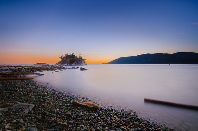 Sunset at Whytecliff Park