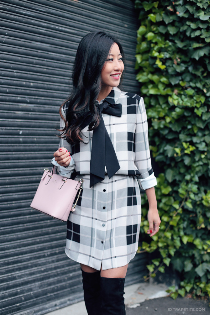 kate spade bow shirtdress