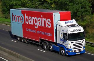Wm Pringle & Son of Carluke Scania R440 PJ10XKU, A90 Dundee, 27/9/15