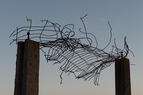 Pieces of a Wire Fence
