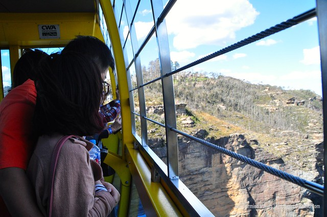 Riding the Scenic Skyway at Scenic World
