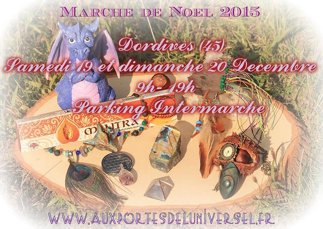 Marché de Noël où sera présente la boutique ésotérique en ligne Aux Portes de l'Universel