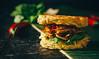 Ramen Burger with Bakmi-Chicken