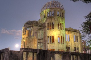 A-Bomb Dome at Hiroshima in early morning on OCT 28, 2015 (4)