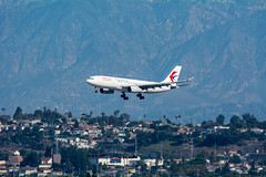 China Eastern Airbus A330 approaches LAX