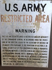 U.S. Army Restricted Area Sign