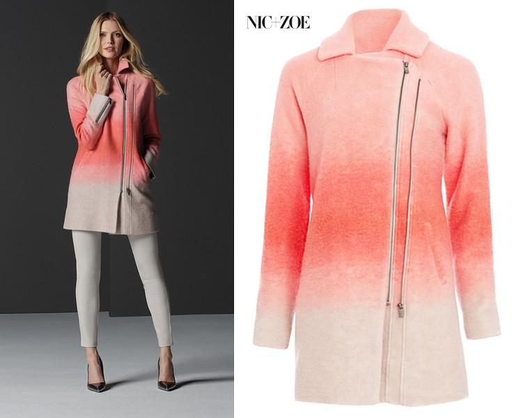 Nic+Zoe AW15 bold blush jacket