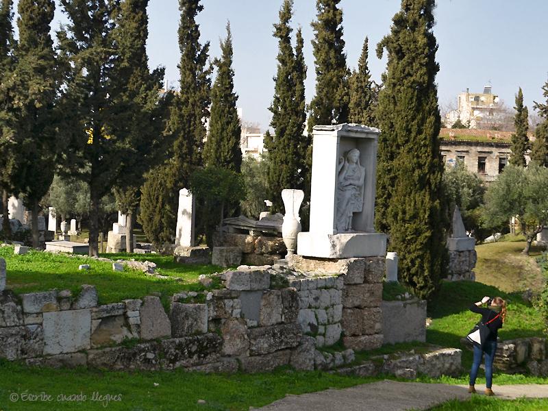 Estela funeraria en Kerameikos
