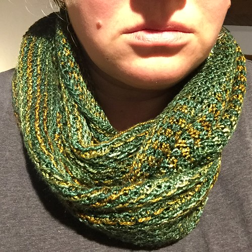 Finished Honey Cowl