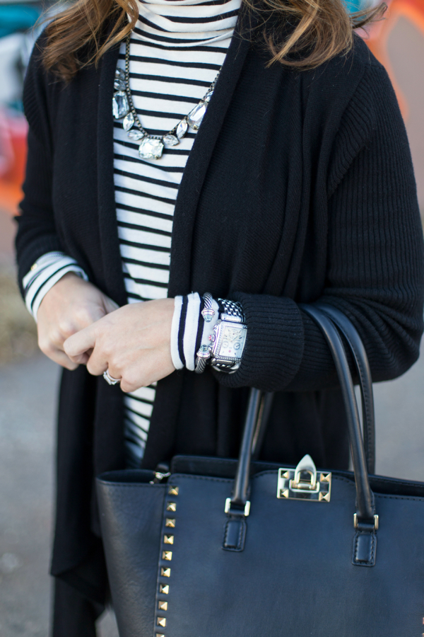 Stripes + Long Cardigan