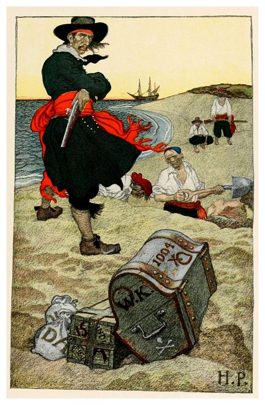 004-Enterrando el tesoro- Howard Pyle's book of pirates..1921