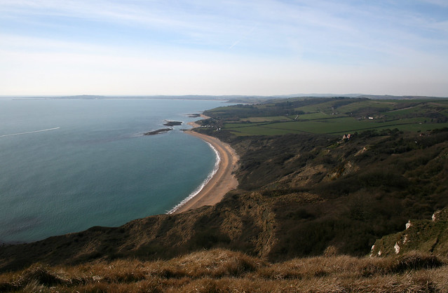 View to Osmington from Burning Cliff